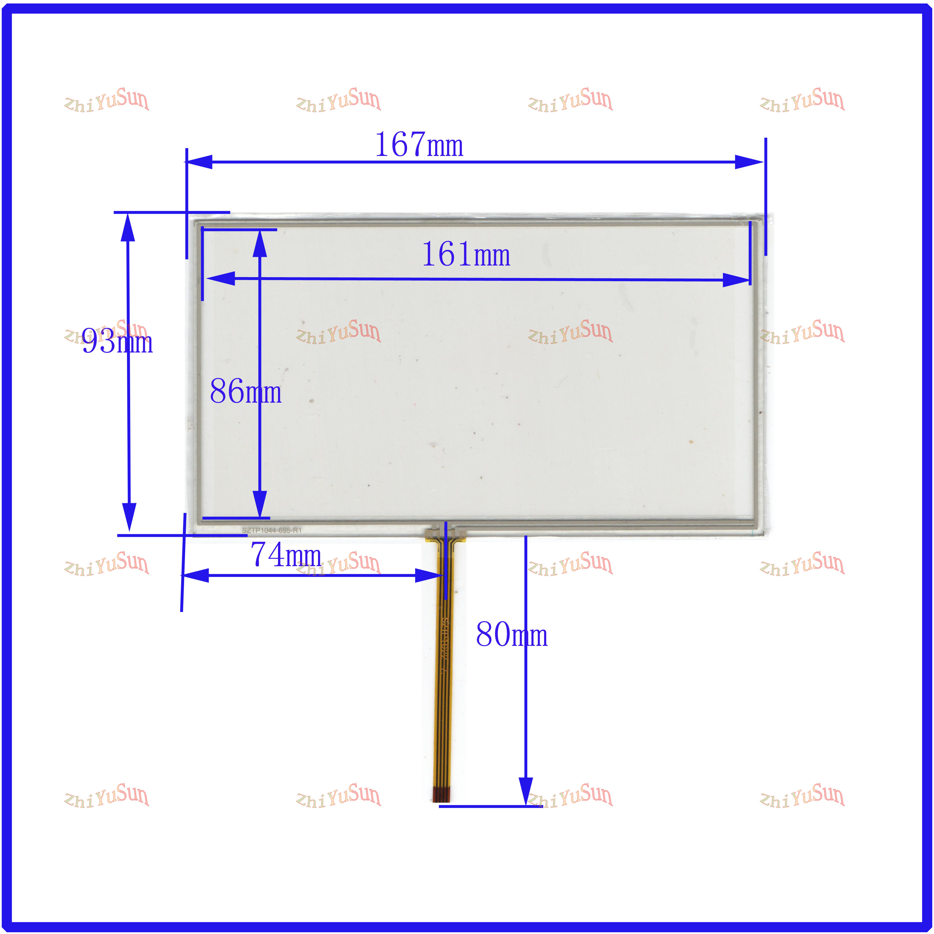 ZhiYuSun For JVC-KW-AVX810 7inch Touch Screen Glass 4 Lines  Resistive USB Touch Panel Overlay Kit  TOUCH SCREEN