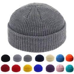 Шапка в стиле хип-хоп Череп кепки без полей улица хип хоп вязаная шапка для женщин мужчин акрил унисекс повседневное Твердые тыквы