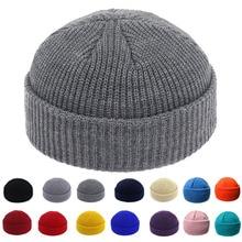 Brimless Hats Hip Hop Beanie Skullcap Street Knitted Hat Women Men Acr