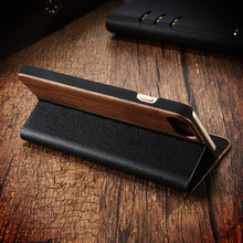 Real Wood Vintage Leather Case For iPhone 6 6S 7 7 Plus