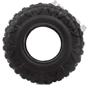 Image 4 - INJORA 4PCS 2.2 Rubber Mud Grappler Tires 120*43MM for 1:10 RC Rock Crawler Axial SCX10 SCX10 II 90046 90047 Traxxas TRX 4 TRX4