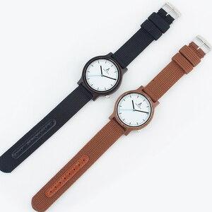 Image 5 - Alk Vision Mens Houten Horloge Mannelijke Hout Canvas Nylon Strap Eenvoudige Sport Quartz Horloge Vrouwen Dames Polshorloge 2018