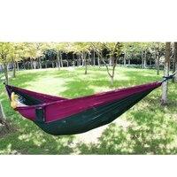 Bloco de cor Forte Respirável Secagem Rápida Tecido Parachute Hammock Ao Ar Livre Do Jardim Campimg Viagem Hanging Bed