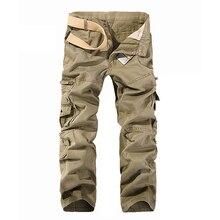 2017 neue Mode Männer Cargohose Armee-grün Werkzeug Military Hosen Pantalon Homme Casual Hosen Taktischen Plus größe 28-40