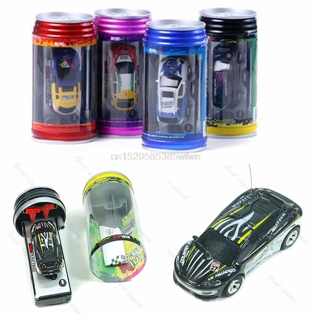 coke can mini rc radio remote control micro vehicle boy racing car toy gift hc6u drop shipping. Black Bedroom Furniture Sets. Home Design Ideas