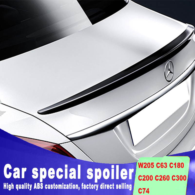 New design for Mercedes-benz benz W205 C63 C180 C200 C260 C300 C74 ABS high quality rear trunk wing rear spoiler by C200 C260