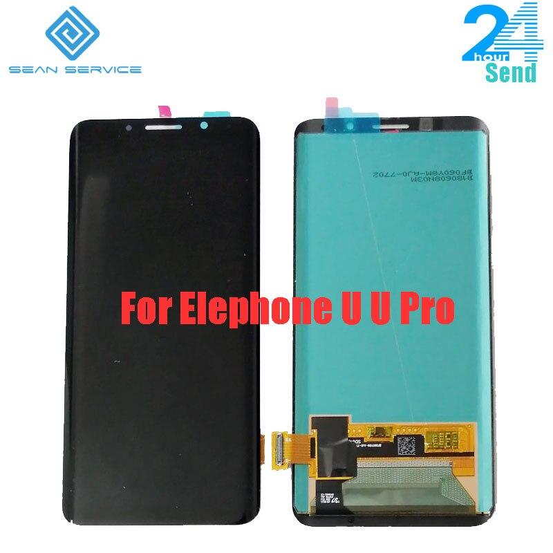 Pour 100% d'origine Elephone U U Pro AMOLED LCD affichage + écran tactile numériseur assemblée pièces de rechange 5.99 pouces 18:9 Stock
