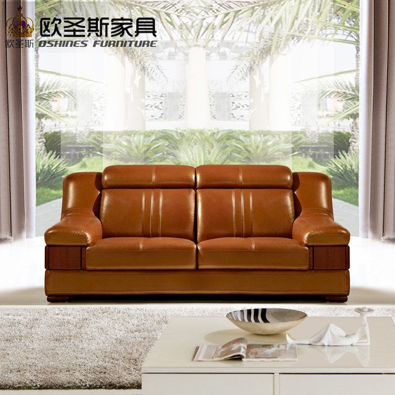 Wooden Decoration Sofa Furniture Modern Lobby Design China Buffalo Leather Funitures Sets For Living Room 632a In Sofas From