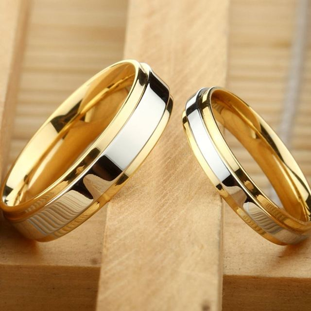 and quality for wedding stainless ring engagement lover item bands colors band gold alliance steel silver