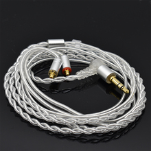 MMCX SE535 Original Upgrade Silver Plated Cable Detachable Wire for Shure SE215 SE315 SE846 UE900 Earphone for iPhone xiaomi 2016 new weasy 8 core earphone upgrade silver plated cable for shure se215 se846 se535 vt lza3 lza4 headset audio cable