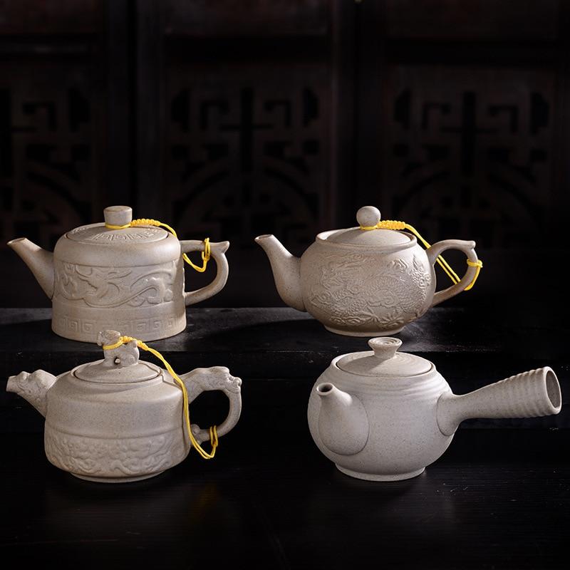 Service à thé en grès 200ml   Vintage, théière en Imitation de pierre, bouilloire faite à la main, théière kung fu, fournitures de thé chinois, théière