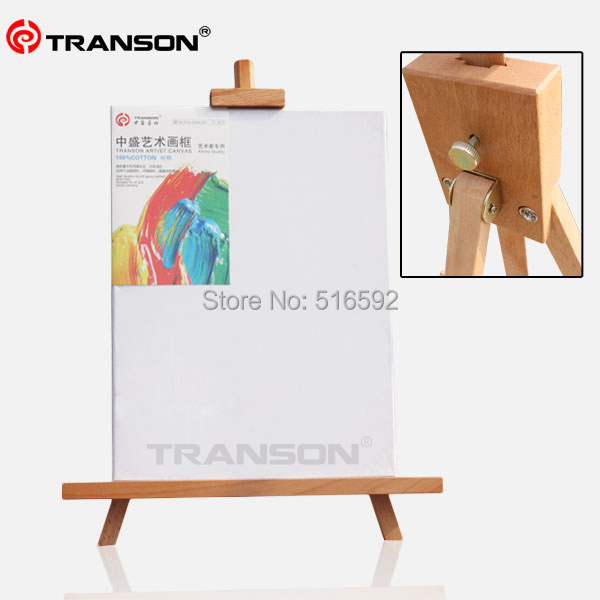 buy transon fine beech wooden tabletop easel for oil painting foldable mini wood easel tripod easel for display from reliable tripod - Tabletop Easel