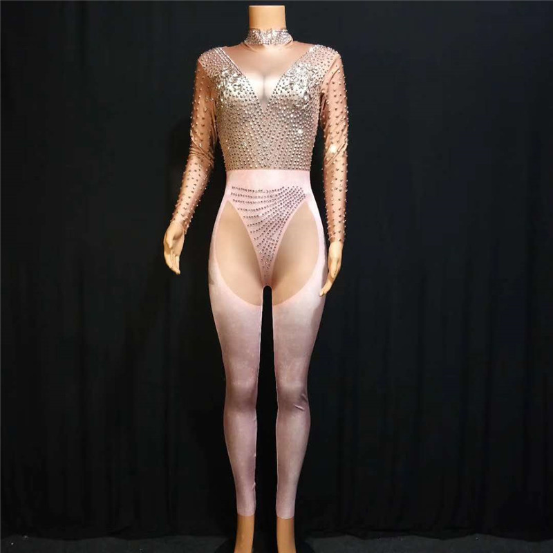 X69 Female pole dance dress singer stage costumes ballroom wears bodysuit printing rhinestone jumpsuit diamonds clothe party djX69 Female pole dance dress singer stage costumes ballroom wears bodysuit printing rhinestone jumpsuit diamonds clothe party dj
