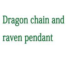 lanseis 1pcs Dragon chain and raven pendant