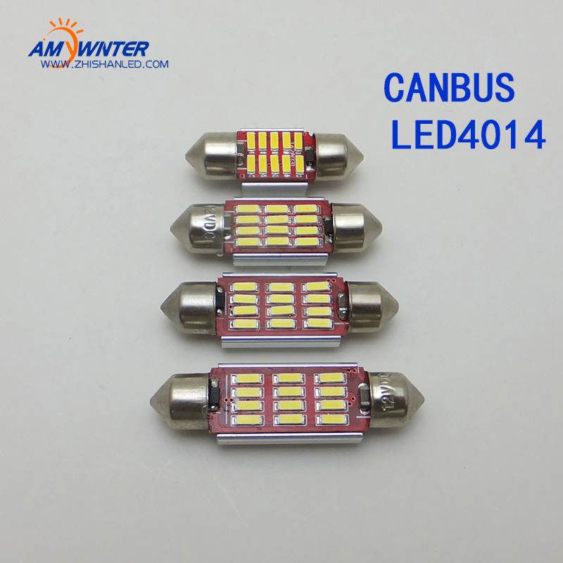 12 V C5W Canbus LEVOU Lâmpadas de Leitura Do Carro Auto License Plate Luzes led chip de Exterior Interior Luz Festoon 4014 LED Carro-styling
