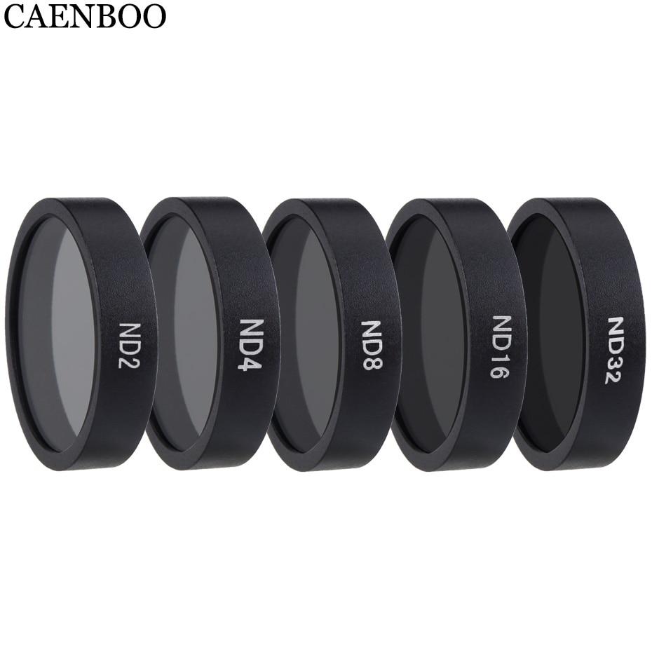 CAENBOO фильтр для дрона ND4 8 16 32 нейтральная плотность для DJI Phantom 3 4 K/Advanced/Standard/Professional Pro/SE Gimble аксессуары