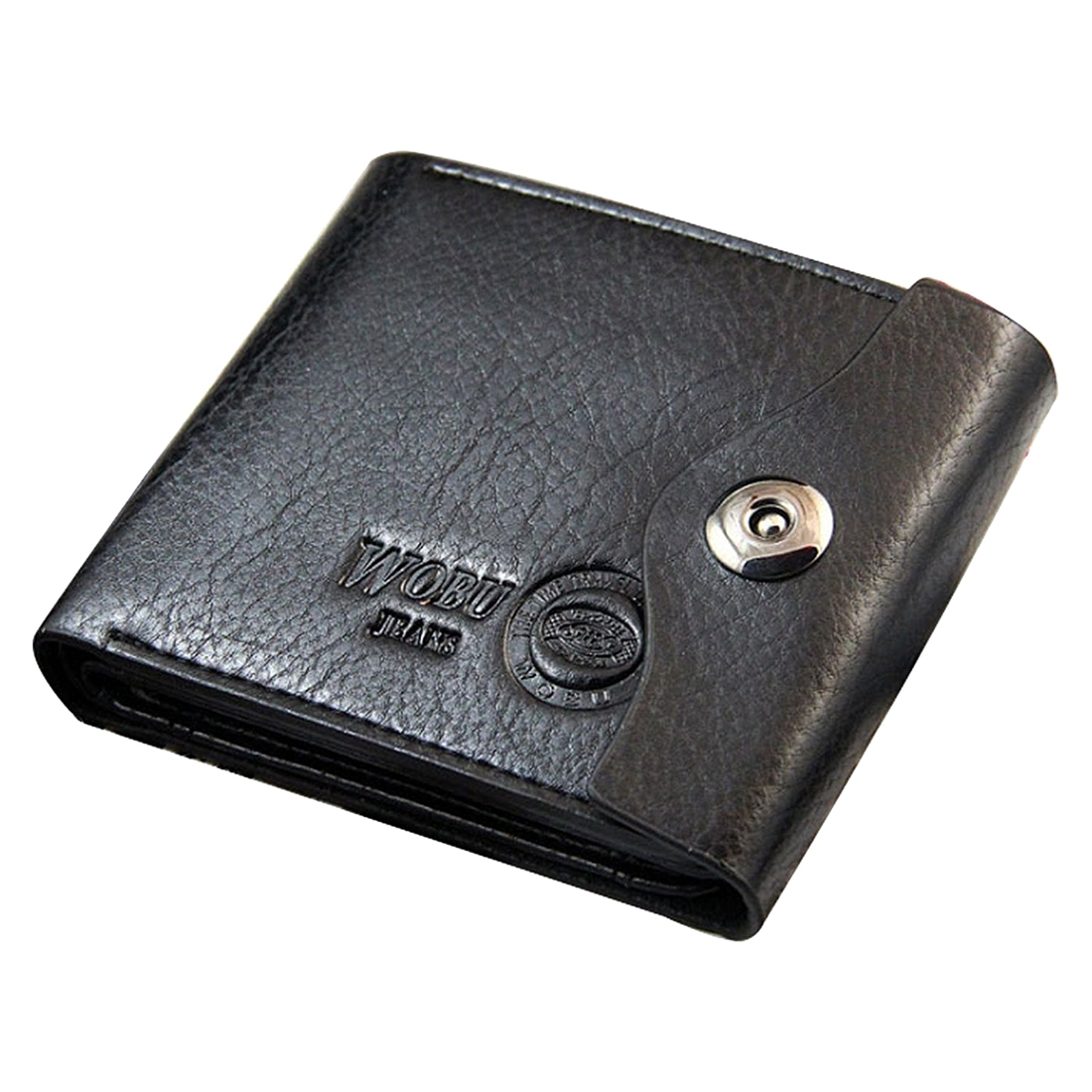 2X WOBU High Quality Mens Leather Wallet with Credit Card Holder,Purse (Black) star wars purse high quality leather