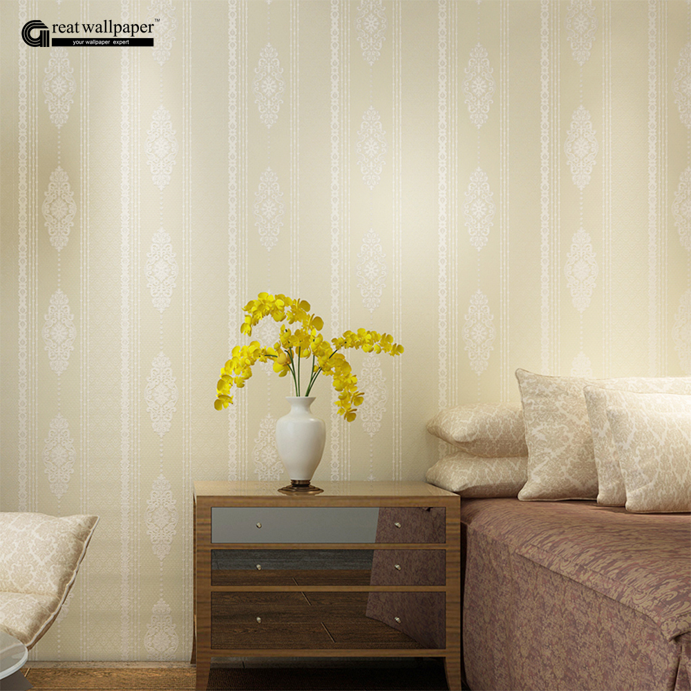 Damask wallpaper pattern promotion shop for promotional for B q living room wallpaper