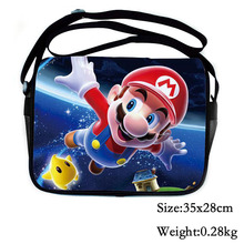 2017 Fashion Cartoon Super Mario Messenger Bag For School Kids Shoulder Bag For Girl Boys Birthday Gift Bag For Children School