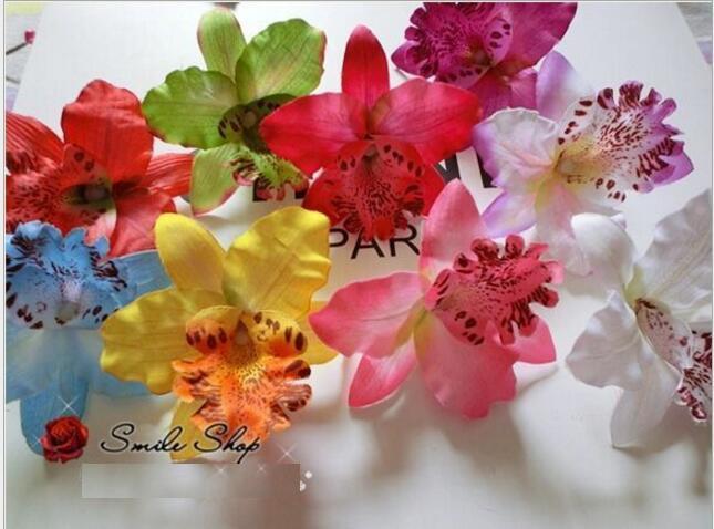 20pcs Silk Moth Orchid Flower Girls Head Flower Decorative Flowers & Wreaths Accessories