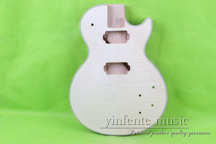 купить one 19# unfinished  electric guitar body  mahogany made and maple  top дешево