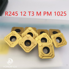lathe tools R245-12T3M-PM 1025 cnc carbide inserts turning tool milling flat cutter blade parts