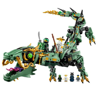 592pcs 06051 Movie Ninjagoed Series Flying Mecha Dragon Building Blocks Bricks Toys Children 70612 Gifts Compatible