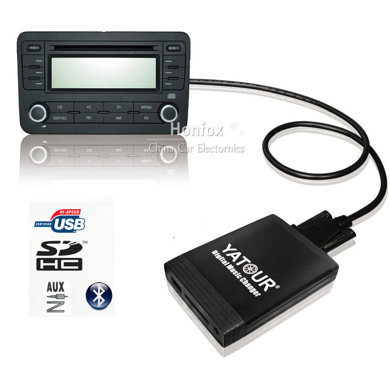 Yatour 12pin For Audi A3 A4 S4 R8 TT 2007-2010 YT-M06 Car USB MP3 SD AUX adapter Digital CD Changer interface