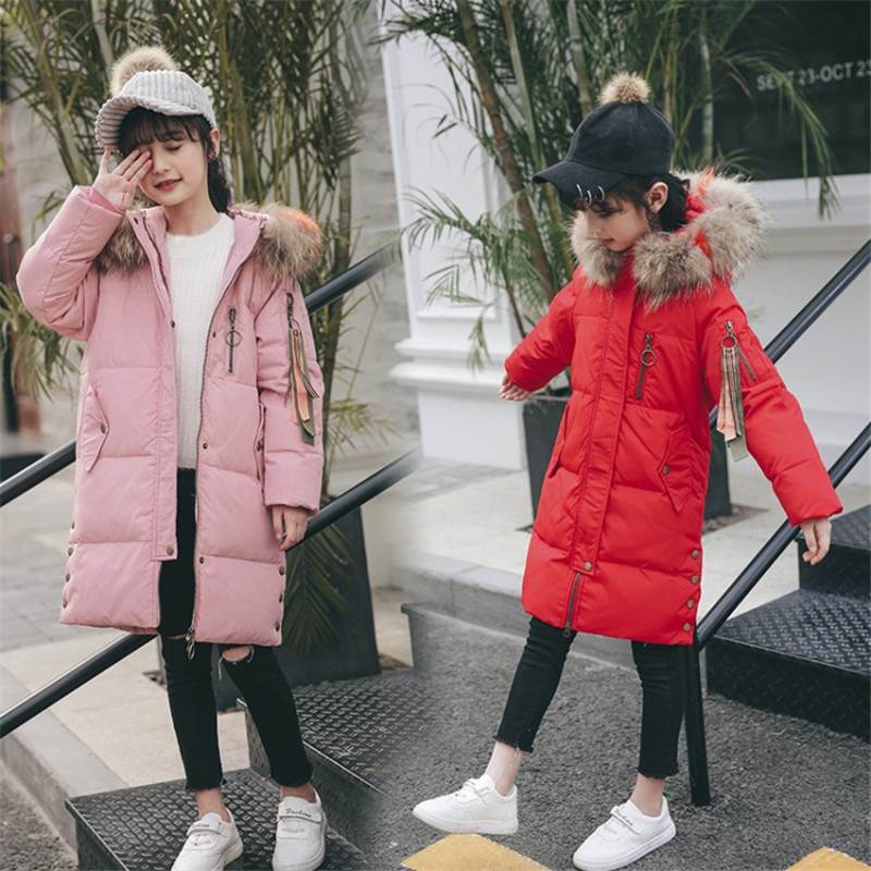 0d8201767 2019 Girls clothing warm Down jacket for girl clothes warm winter thicken  parka hooded children outerwear coats 5 6 7 8 9 years