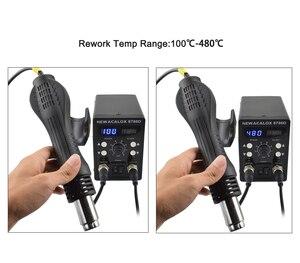 Image 3 - NEWACALOX EU 220V Soldering Station 750Wปืนความร้อน60W Soldering Iron LCDดิจิตอล2 In 1 SMD reworkสถานีเชื่อมซ่อมเครื่องมือ