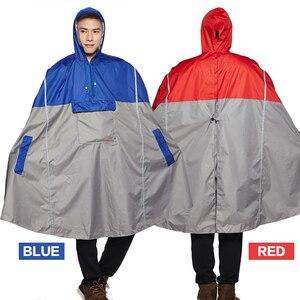 Image 2 - QIAN yağmur geçirmez geçirimsiz açık moda yağmur panço sırt çantası yansıtıcı bant tasarım tırmanma yürüyüş seyahat yağmur kılıfı