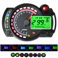 15000rpm LCD Digital Motorcycle Odometer Speedometer Adjustable 199KM/H Freeshipping Car Styling