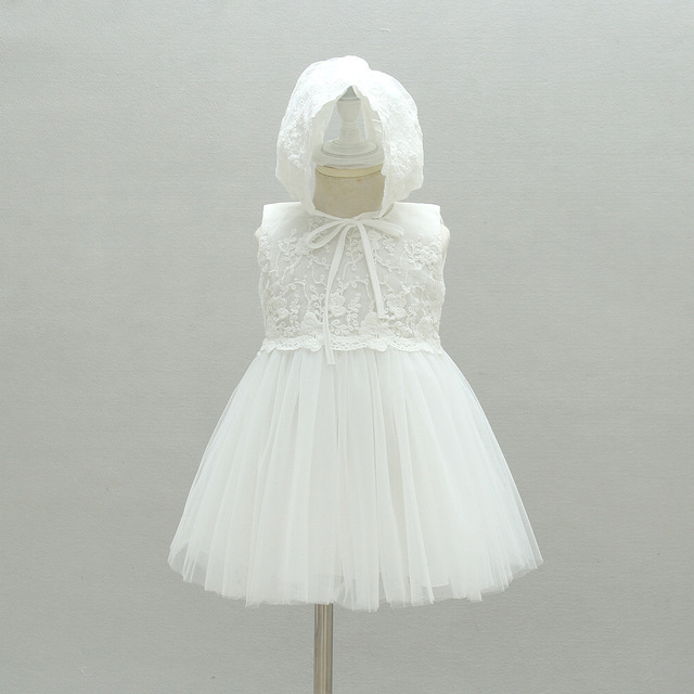 High Quality Flower Princess Baby Dress for Infant Little Girl Elegant Birthday Wedding Party Kids  Dresses 3M-24M baptism dress