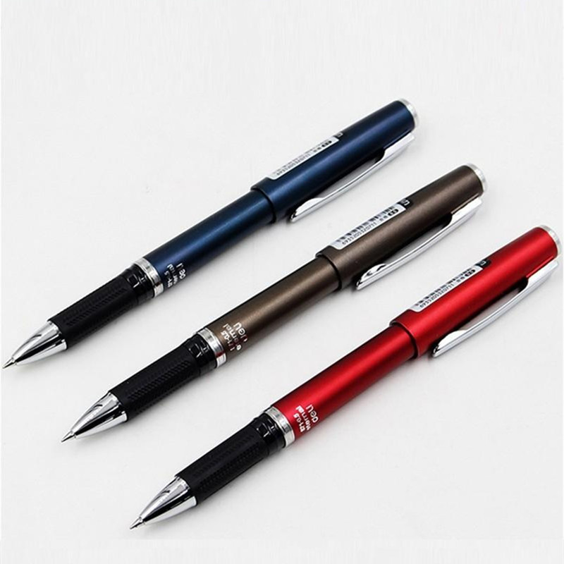 1 Pc Gel Pen Black Color Liquid-Ink 0.5mm Core For School And Office Fine Point Pens Deli S71