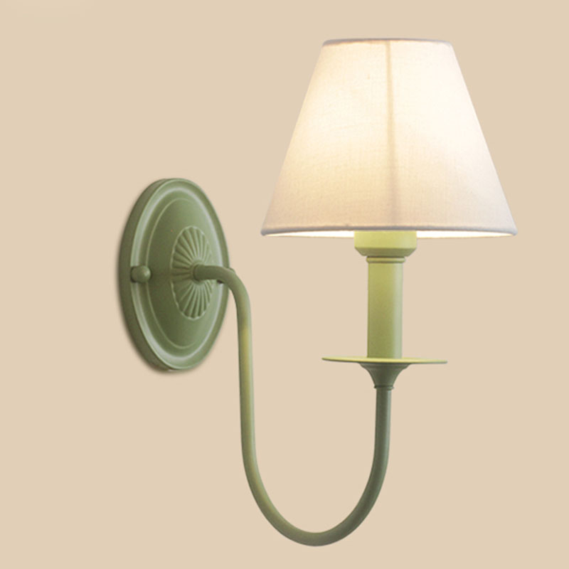 Simple Fabric Wall Lamp Green Cloth Modern White Wall Light Mounted Child Room Bedside Light Wall Sconce Room Decor Lights F120Simple Fabric Wall Lamp Green Cloth Modern White Wall Light Mounted Child Room Bedside Light Wall Sconce Room Decor Lights F120