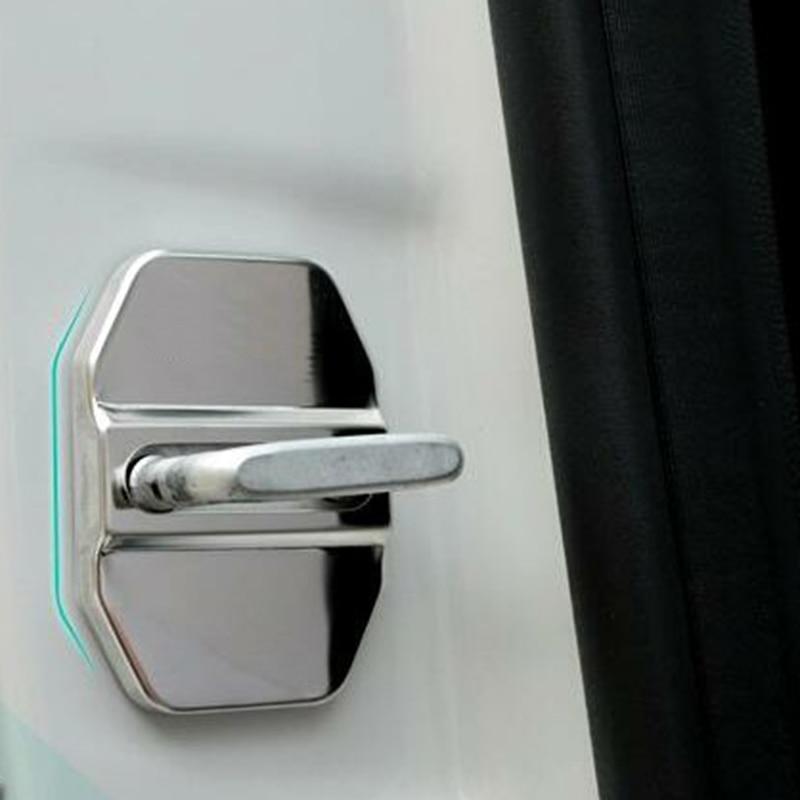 4Pcs Car Door Striker Cover Lock Buckle Cap Protector For Mercedes Benz B C E ML SLK Class GLK300 W164 C260 Chrysler 300c