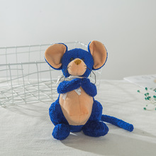17CM Cute Plush Toy Blue Mouse Doll Filled Animal Decoration Child Girl Creative Cartoon Birthday Gift