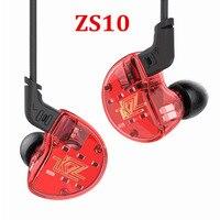KZ ZS10 4BA 1DD Hybrid In Ear Earphone HIFI DJ Monito Running Sport Earphone 5 Drive