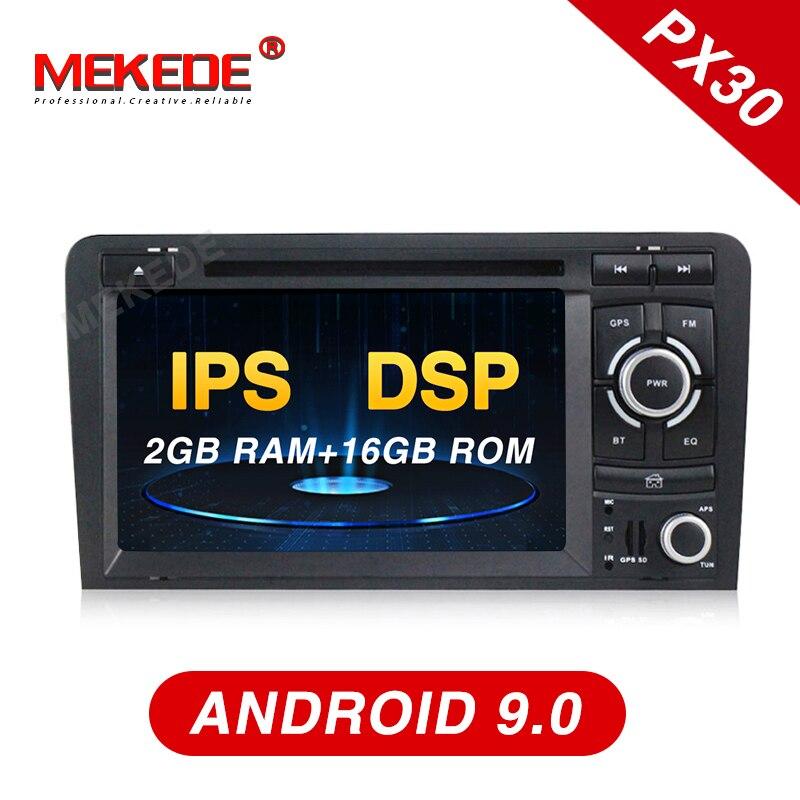 Автомобильное радио Mekede с DSP IPS Android 9,0 7 2din автомобильный dvd плеер для Audi A3 S3 2003 2011 радио GPS Navi BT 2 Гб RAM 16 Гб ROM