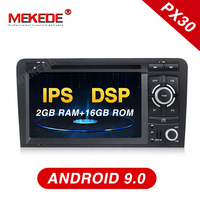 Mekede Car radio with DSP IPS Android 9.0 72din Car DVD Player For Audi A3 S3 2003 2011 Radio GPS Navi BT 2GB RAM 16GB ROM