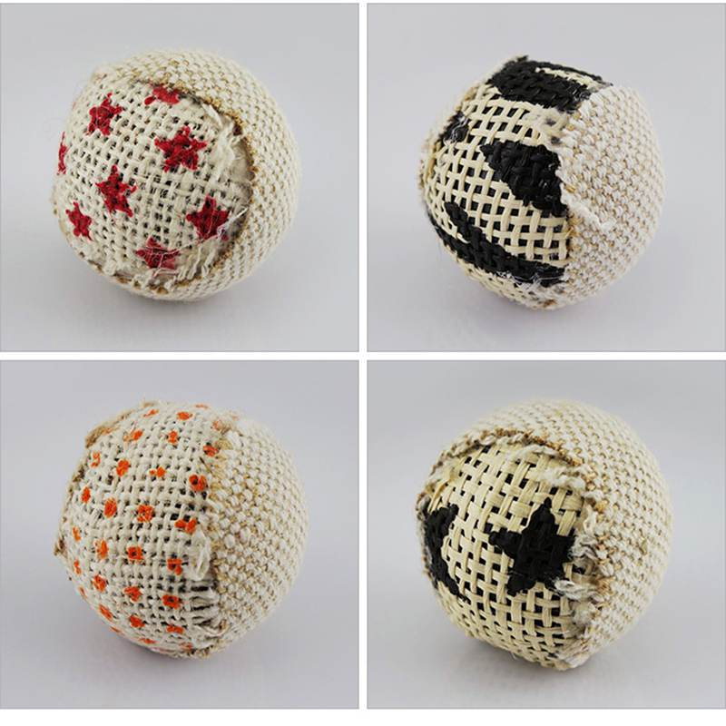 4pcs/pack Ball Cat Toy Interactive Cat Toys Play Chewing Rattle Scratch Catch Pet Kitten Cat Exrecise Toy Balls Pet-Supplies New