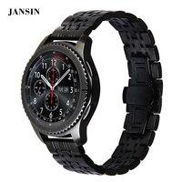 JANSIN 22mm Watch Band Ze Stali Nierdzewnej Pasek Do Samsung S3 Frontier Biegów/S3 Klasyczne/Moto 360 2nd Gen 46mm/Czas Stali Żwirowa