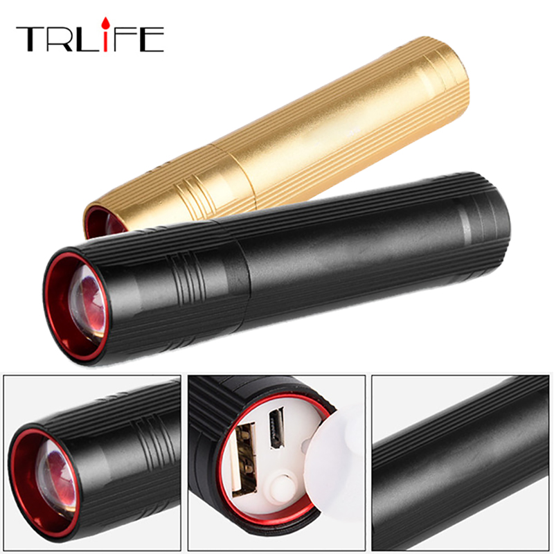 5000Lumnes USB CREE XPE LED Flashlight Zoomable Flashlight Torch Flash Light Lamp Lighting With USB Charger + Battery freeman x6s cree xpe r3 led flashlight torch bluetooth v2 1 edr speaker battery charger