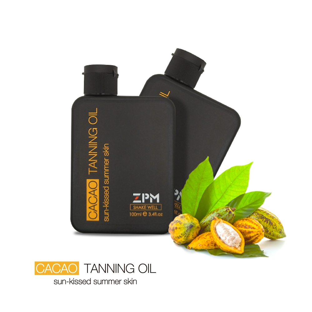 ZPM увлажняющее масло для загара, SPF 6, 3,4 унции бутылка, 1 Граф, широкий спектр UVA/UVB защита, кокосовое масло, какао, гипоаллергени