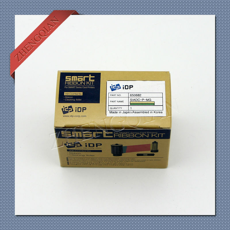 original IDP Smart card printer ribbon gold 650682 SIADC-P-MG ribbon for use with the smart card printer flsun 3d printer big pulley kossel 3d printer with one roll filament sd card fast shipping