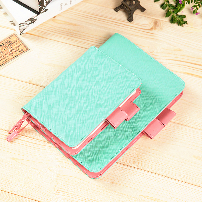 2017 Calendar Cute Kawaii Japanese Yearly Monthly Daily Personal Organizer Denim & Leather Binder Notebook Agenda Planner A5 A6