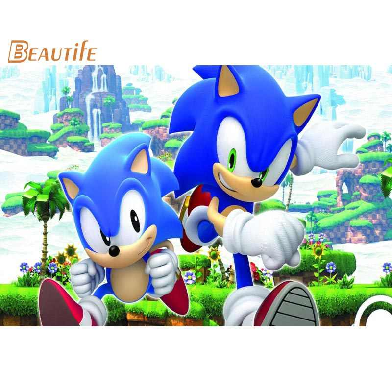 Hot Sale Custom Sonic The Hedgehog Poster Home Decoration Fashion Silk Fabric Wall Poster Custom Poster Aliexpress