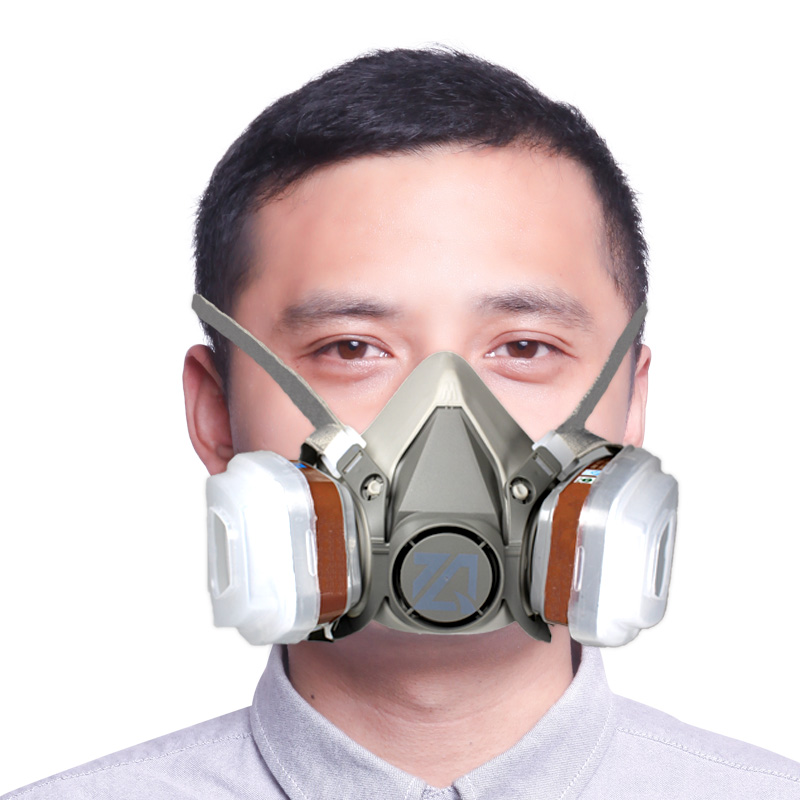 9 In 1 Suit Half Face Gas Mask Respirator Painting Spraying Dust Mask For 6200 Pm2.5 Gas Mask