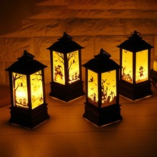 Halloween Vintage Pumpkin Castle Pendant Lamp Party Decoration Portable LED Lantern Festival Supplies