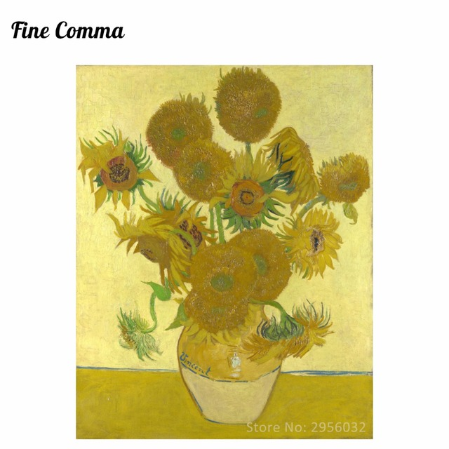 Sunflowers4th Version 1888 By Vincent Van Gogh Hand Painted Oil
